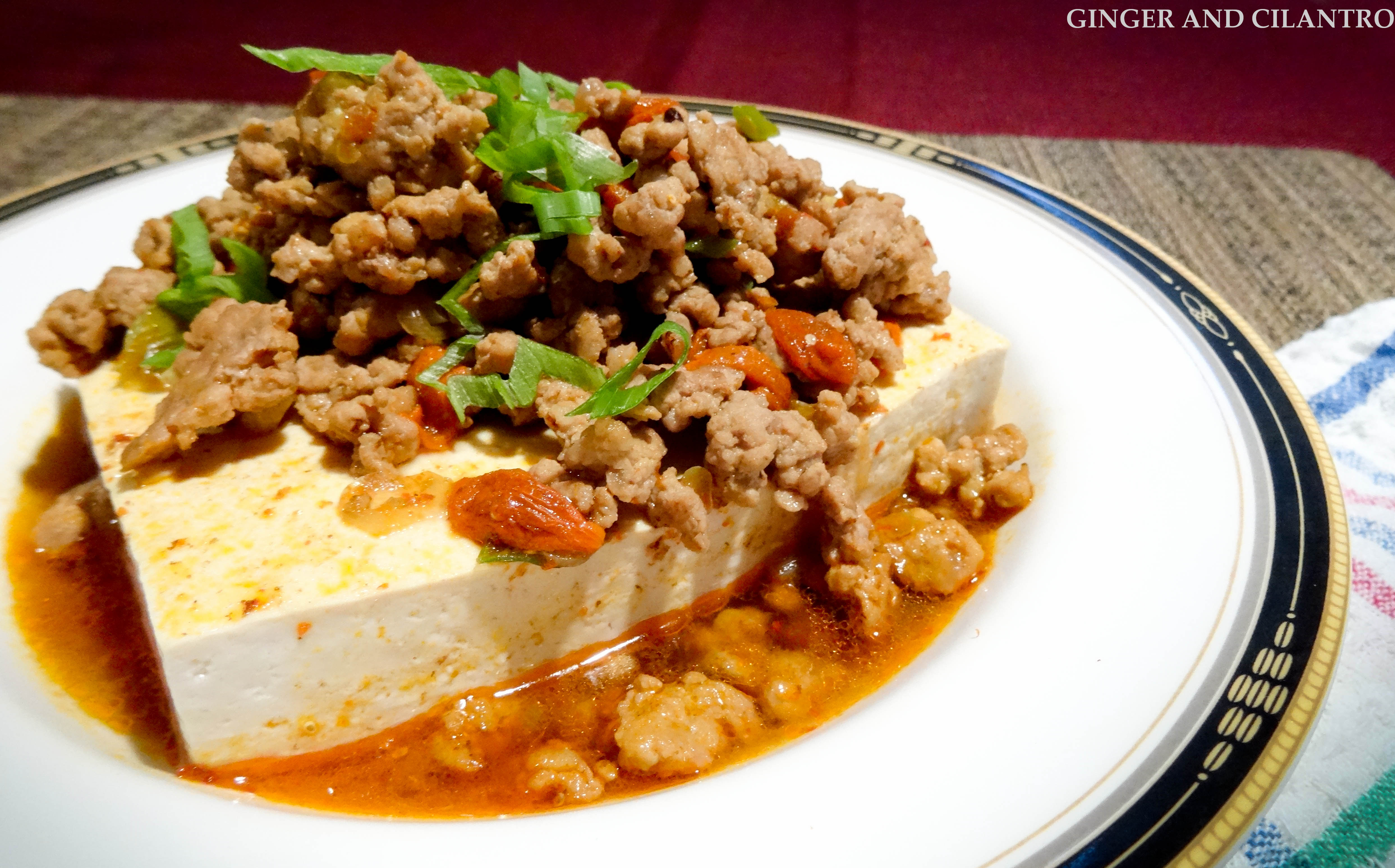 Steamed Tofu with Ground Pork and Gogi Berries - Ginger ...