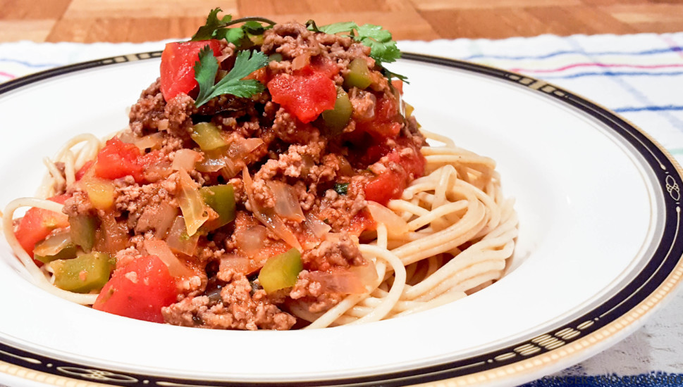 Healthy Meat Sauce And Whole Wheat Spaghetti Ginger And